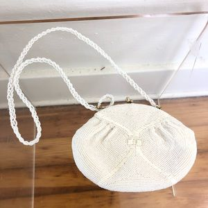 Richere Bag By Walborg Ivory Beaded 1960'S Vintage